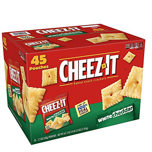 Cheez-It White Cheddar Crackers Snack Packs (1.5 oz. pouches, 45 ct.)