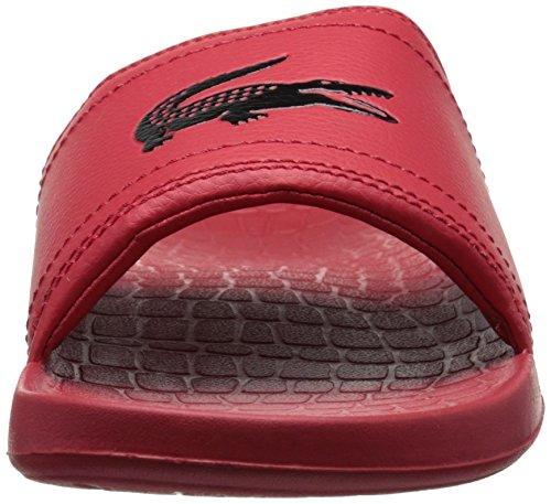 Slides Men Red black Lacoste Fraiser 6xXF7WwT