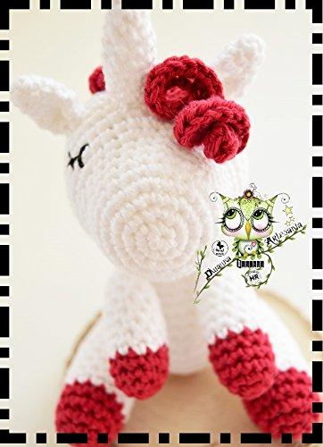 UNICORNIO DORMIDO AMIGURUMI REGALO PERSONALIZABLE (Bebé, crochet, ganchillo, muñeco, peluche,