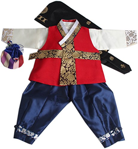 Korean Traditional Costume For Boys (Korean Traditional Hanboks Costumes BABY BOYS KIDS 1st Birthday DOLBOK hb059/1)
