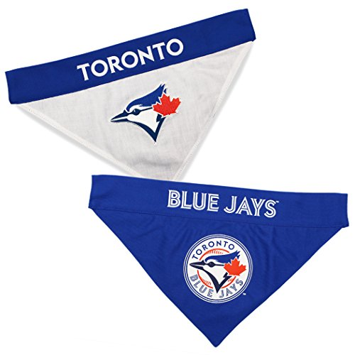 (Pets First MLB Toronto Blue Jays Reversible Bandana, Small/Medium, Team Color)
