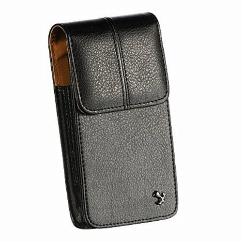 Luxmo High Quality Leather Vertical Pouch Protective Carrying Cell Phone Case with Swiveling Belt Clip for Apple iPhone 5 5C 5S - All Carriers (Includes Top Quality Things Mini Stylus - Leatherette Top