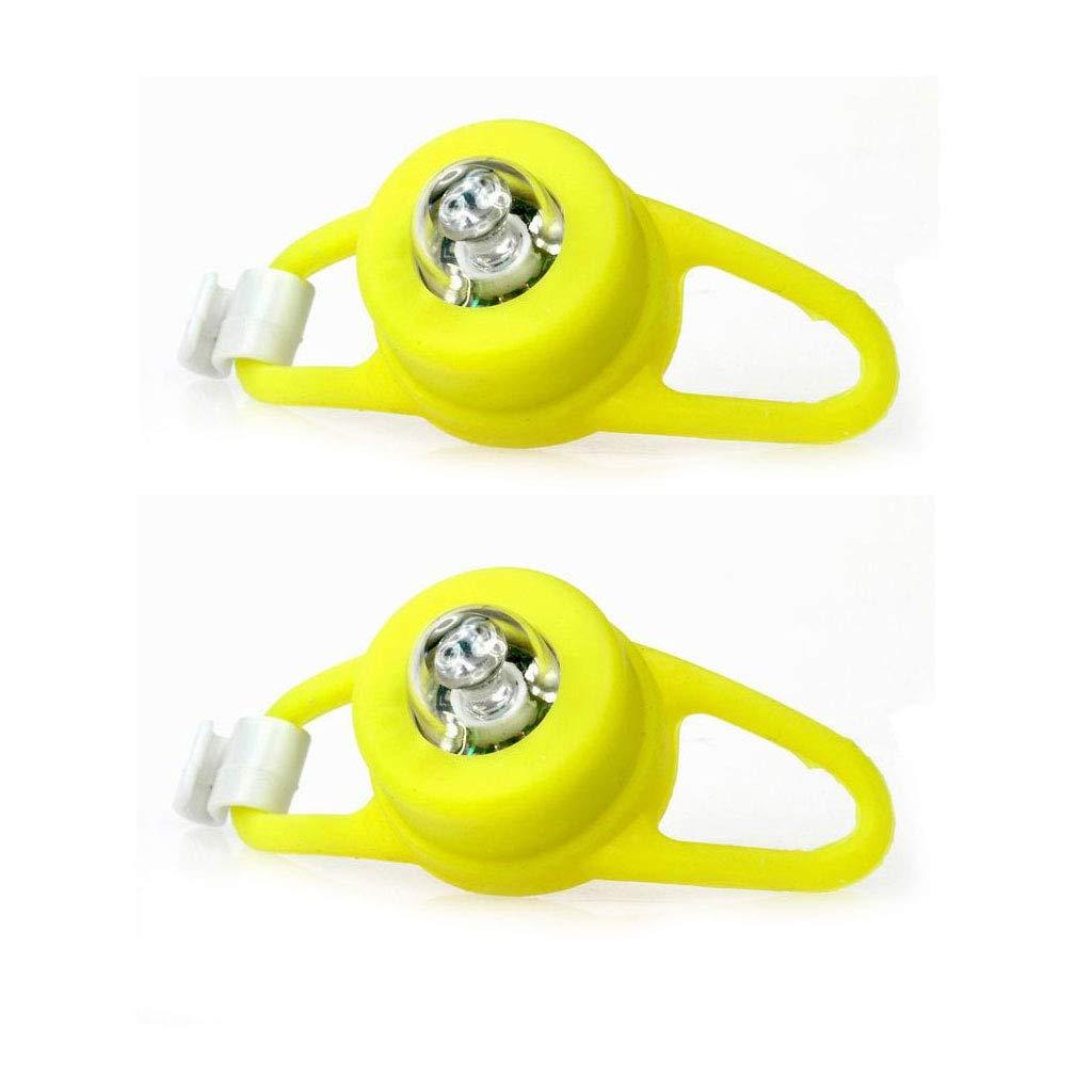 2pcs Black Silicone Frog Bicycle Bike Cycling LED Light Lamp Safety Warning New