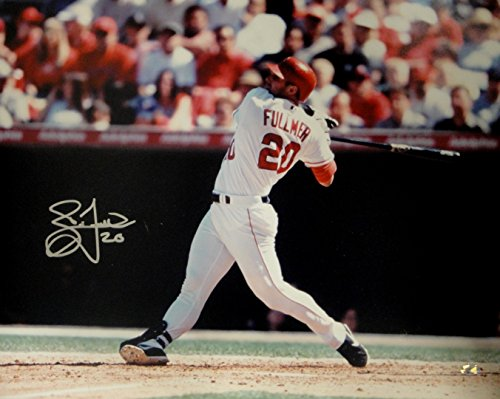 Brad Fullmer Hand Signed Autographed 16x20 Anaheim Angels Photo Big Swing