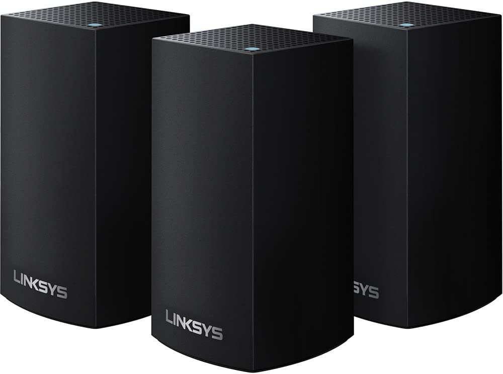 (Discontinued by Manufacturer) Linksys Velop AC1200 Dual-Band Whole Home WiFi Intelligent Mesh System, 3-Pack Black