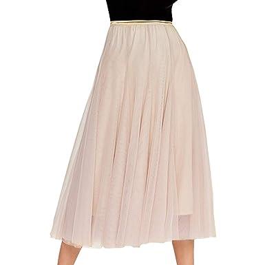 E-Girl ED1863 - Falda Plisada para Mujer Beige 34: Amazon.es: Ropa ...