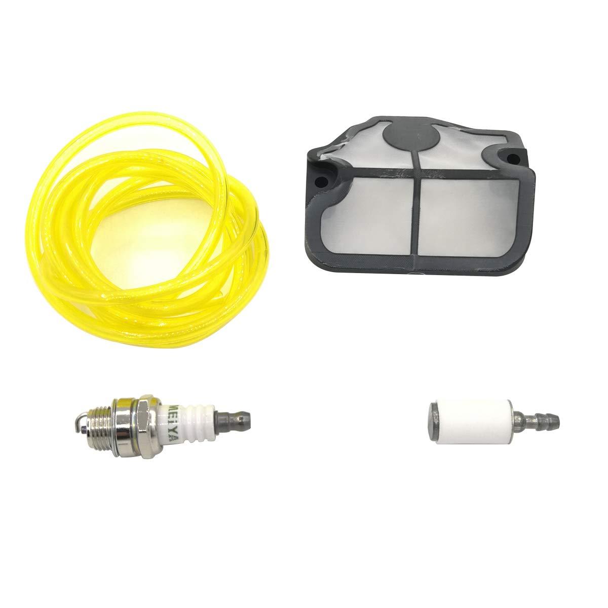 Shioshen Aria Filtro Carburante Tubo Flessibile Kit Candele per Husqvarna 136 41 36 Le 141 Le 137 e 142 e Motosega
