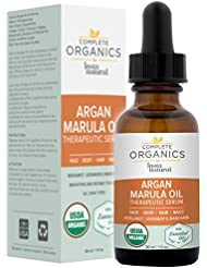 Argan Marula Oil Therapeutic Serum - Concentrated, Botanical Complex that Smooths & Adds Moisture to All Skin Types Firming & Purifying from Head to Toe - Complete Organics by InstaNatural - 1 OZ