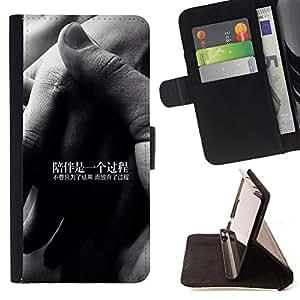 Jordan Colourful Shop - FOR Sony Xperia Z3 D6603 - company is a process - Leather Case Absorciš®n cubierta de la caja de alto impacto