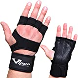 Crossfit Gloves - Weight Lifting Hand Grips with Wrist Wrap Support Guard - WOD, Pull Up Bar, Gym Workout, Fitness, Deadlift, Calisthenics, Gymnastic, Powerlifting Training Palm Protector - Men, Women (S)