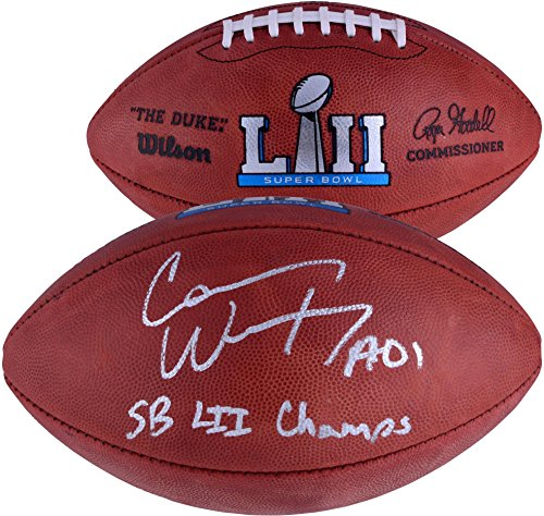 6fb2ffd7552 Carson Wentz Philadelphia Eagles Autographed Wilson Super Bowl LII Pro  Football with