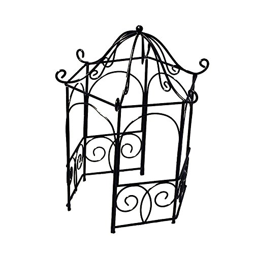Provence GF2975 Iron Mini Fairy Garden Gazebo, Black by Provence