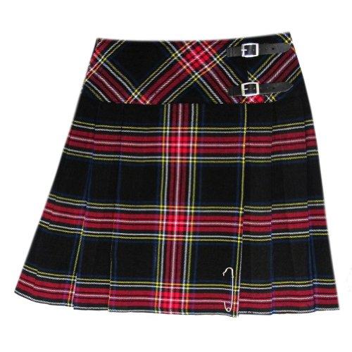 Tartanista Black Stewart Tartan 20 inch Kilt Skirt - Size US 16/W38 (Stewart Black Tartan)