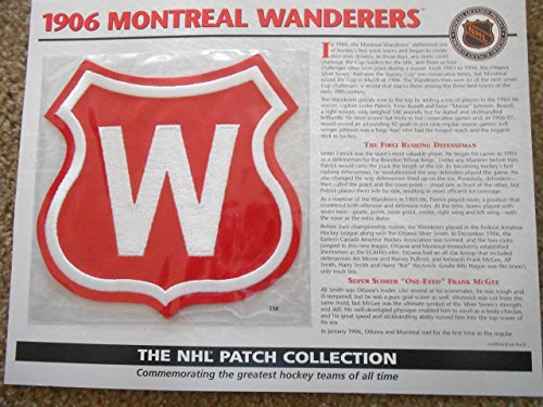 1906 Montreal Wanderers Patch NHL Hockey Willabee & Ward Official Jersey Patch