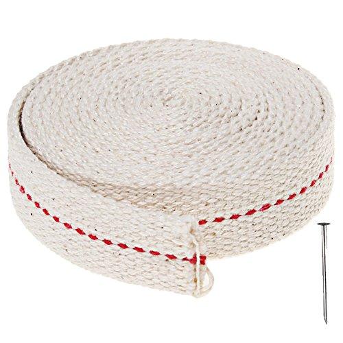 Mecha de la linterna de los 200cm, lámpara de aceite plana de algodón de Sicai Mecha de alambre de la linterna para los mecheros de aceite, blanco
