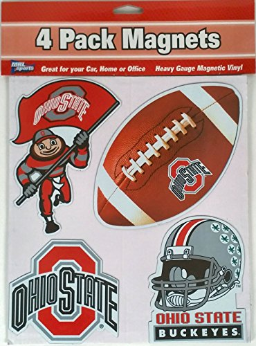 NCAA Ohio State Buckeye 4 Piece Automotive Magnet Set