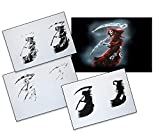 UMR-Design AS-087 Grim Reaper Airbrushstencil Step by Step Size XL