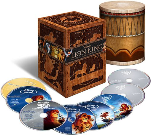 The Lion King Trilogy (Eight-Disc Combo: Blu-ray 3D / Blu-ray / DVD / Digital Copy) by Walt Disney Studios Home Entertainment