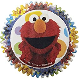 Wilton 415-3470 50 Count Sesame Street Cupcake Liners, Multicolor