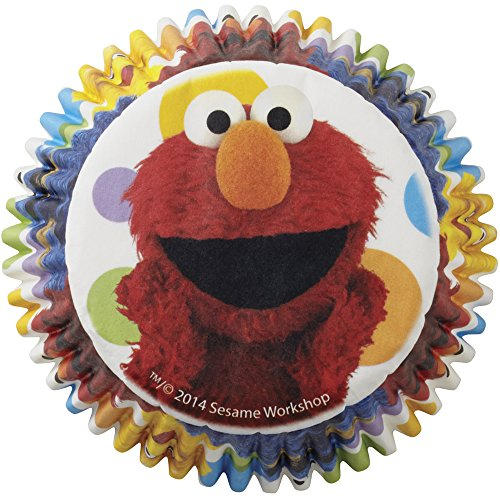 Wilton 415-3470 50 Count Sesame Street Cupcake Liners, Multicolor]()
