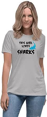 Art Gallery Misr Printed This Girl Loves Sharks T-Shirt Short Sleeve
