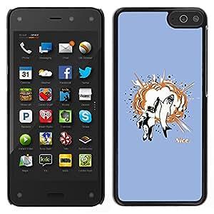Amazon Fire Phone - Metal de aluminio y de plástico duro Caja del teléfono - Negro - Gorilla & Great White High Five