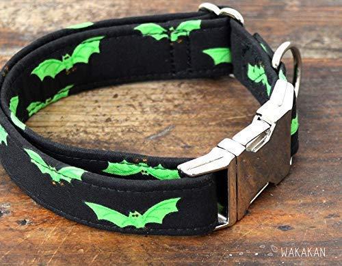 Collar Para Perro: Radioactive Bats, Hecho a Mano en España por ...