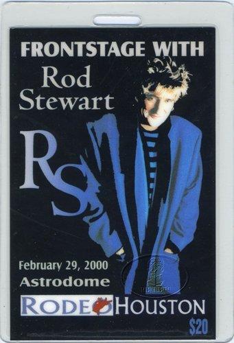 ROD STEWART 2000 Laminated Backstage Pass Ticket