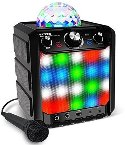 ION Audio Party Rocker Express - Sistema Portatile di Altoparlanti da 40 W, a Batteria e Impianto Karaoke con Cupola Luminosa, Griglia a Luci LED e Microfono inMusic Europe Limited Accessory Electronics Home Audio & Theater
