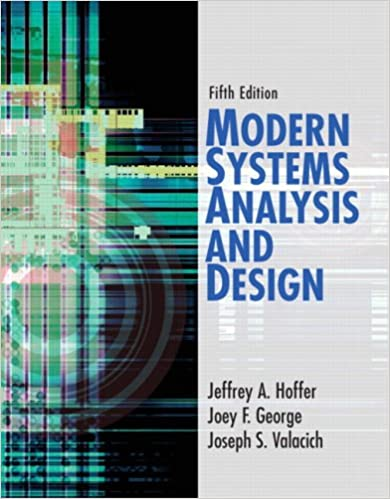 Modern Systems Analysis And Design 5th Edition Hoffer Jeffrey A George Joey F Valacich Joseph S 9780132240765 Amazon Com Books