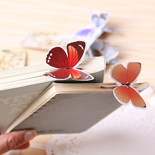 HAPPYCRAFTS98,14PCS Bookmark Butterfly Style Teacher's Gift Book Marker Stationery Gift Realistic Cute Kawaii Cartoon 3d Bookmark,bookmark animal (Puppet Photo Replica)