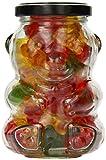 Nakpunar 12 pcs 9 oz Glass Bear Jars with Silver