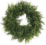 Admired By Nature Artificial 18 Inches Ceder Wreath in Green