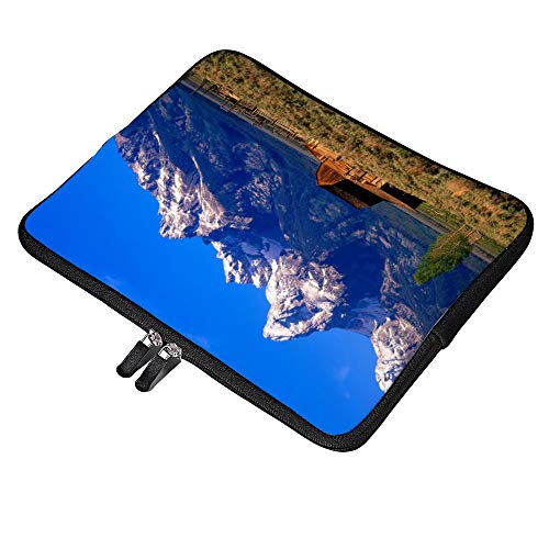 (Yilooom USA Wyoming Grand Teton National Park Morning Neoprene Soft Sleeve Case for MacBook 12 Inch & MacBook Air 11.6 Inch and Laptop up to 12