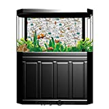 Terrarium Fish Tank Background,Doodle,Science Lab Objects Education Themed Drawing Scientific Formulas Biology Chemistry,Multicolor,Photography Backdrop for Pictures Party Decoration,W48.03'xH18.11'