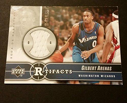 (Gilbert Arenas Wizards Arizona 2004 Upper Deck R-Tifacts Jersey Certified JG3)