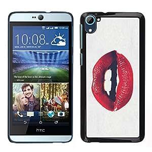 Caucho caso de Shell duro de la cubierta de accesorios de protección BY RAYDREAMMM - HTC Desire D826 - Beso sensual Valentines Seductora