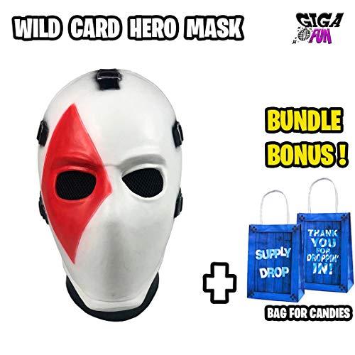 GigaFun - Halloween Mask Unisex Hunter Card Latex Mask Helmet for Cosplay Game Costume for Halloween, Festival, Party