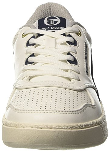 Sergio Tacchini Court Leather - deportivas bajas Hombre Bianco (White/Navy/Red)