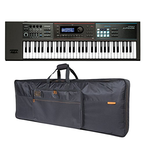 Roland JUNO-DS61 61-key Synthesizer and Premium Black Series Keyboard Bag Bundle by Roland