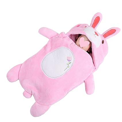 Saco de dormir engrosado forma animal, franela edredón anti-retroceso, saco de dormir