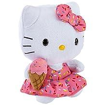 "TY Hello Kitty Beanie Baby - Ice Cream Regular 6"" Size"