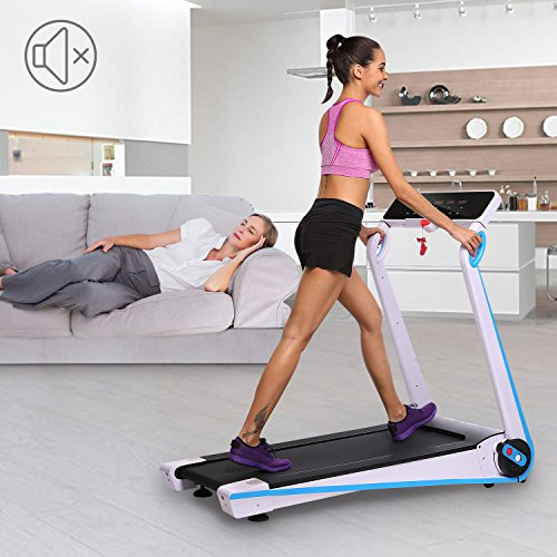 Acazon Fitness Treadmill Folding Electric Motorized Walking Running Machine with Rolling Wheels for Home Gym US STOCK
