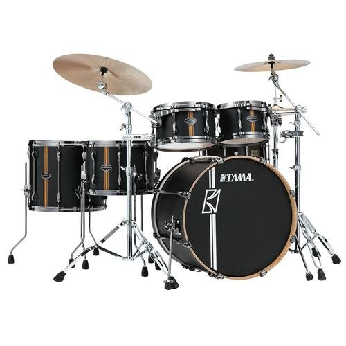 Tama Superstar Hyper-Drive Duo 5-piece Shell Pack - Flat Black Vertical Stripe