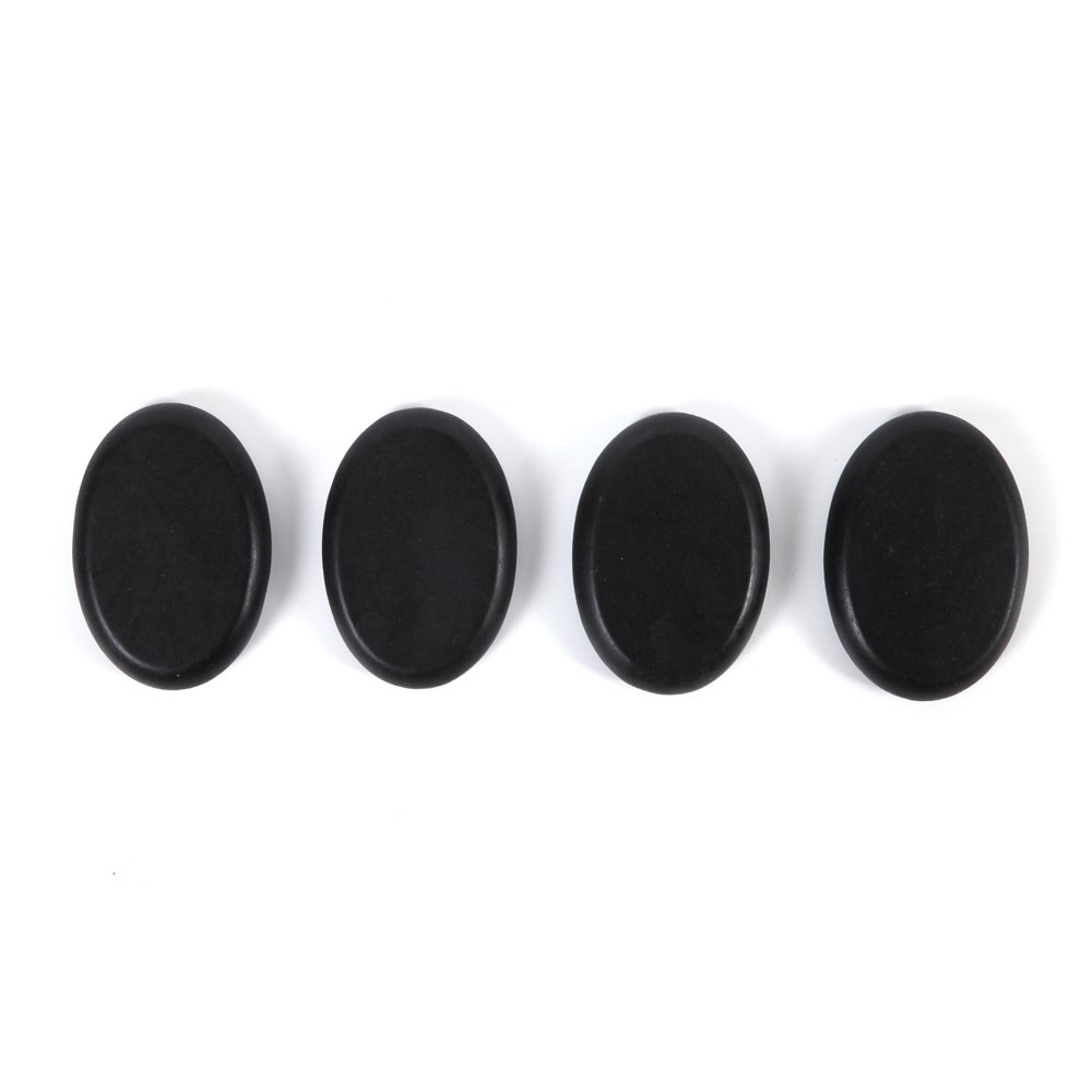 Aboval 20Pcs Professional Massage Stones Set Natural Lava Basalt Hot Stone for Spa, Massage Therapy by Aboval (Image #5)