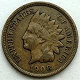 #6: 1908 U.S. Indian Head Cent / Penny Coin