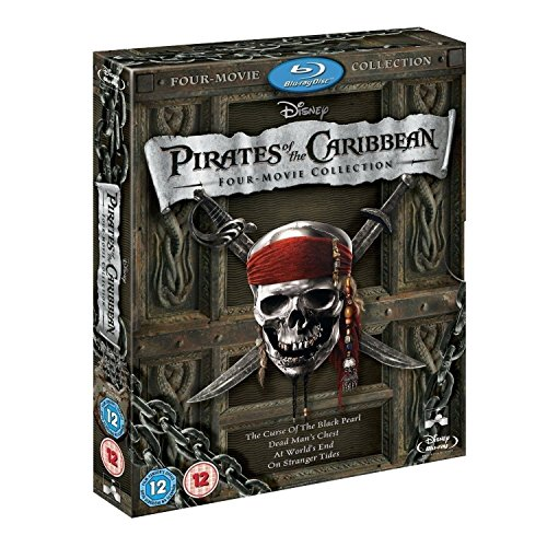 Pirates of the Caribbean 1 - 4 Movie Collection BLU-RAY