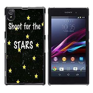 Dragon Case - FOR Sony Xperia Z1 L39 - shoot for the start - Caja protectora de pl??stico duro de la cubierta Dise?¡Ào Slim Fit