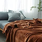 Treading - Brown Flannel Blanket Bed Mantas Soft Throw Fleece Winter Blanket for Children Adult Bedspread Sofa Bed Covers Quilts [ 180200CM ]