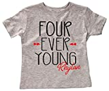 Applecopter Four Ever Young Boys 4th Birthday Party Shirt Four Year Old Birthday Shirt Tribal Theme...